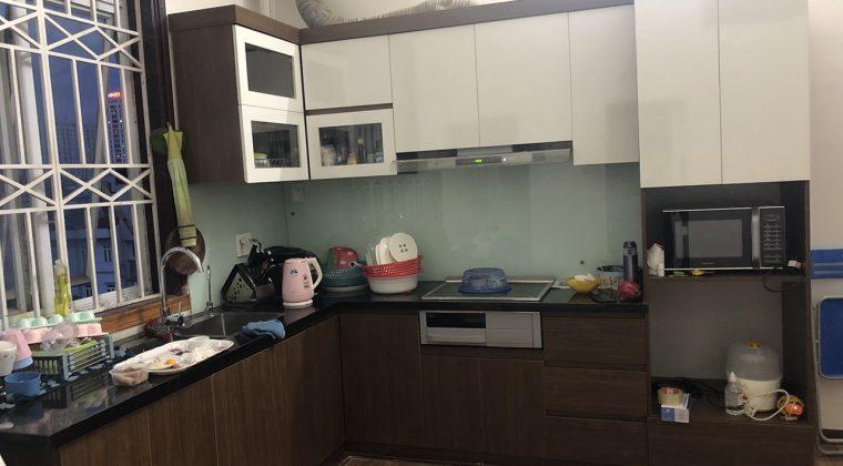 Thi công hoàn thiện tủ bếp cho khách hàng - tủ bếp Melamine