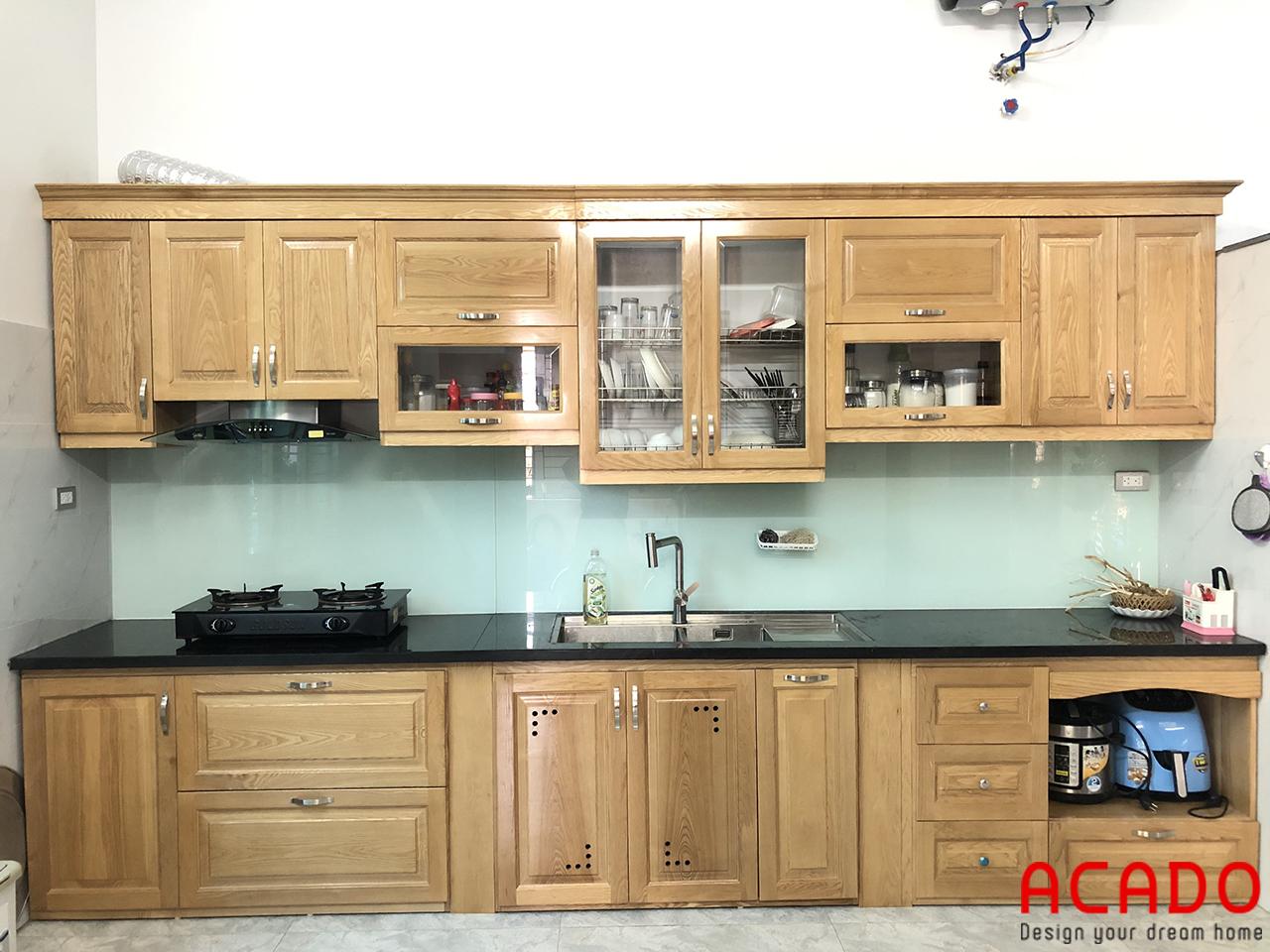 Đóng tủ bếp tại Chương Mỹ - Hà Nội gia đình chị Dung
