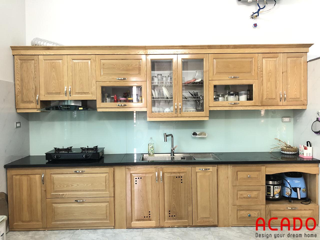 ACADo chuyên thi công và lắp đặt tủ bếp gỗ sồi Nga uy tín tại Hà Nội