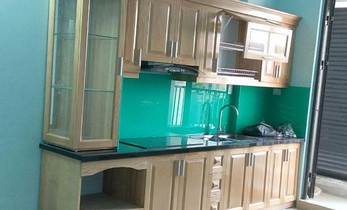 Tủ bếp sồi Nga đã bàn gia hoàn thiện cho khách hàng - làm tủ bếp tại Hoài Đức