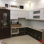 Tủ bếp đã thi công hoàn thiện để bàn giao cho gia chủ - thi công nội thất tại Thanh Xuân - Hà Nội