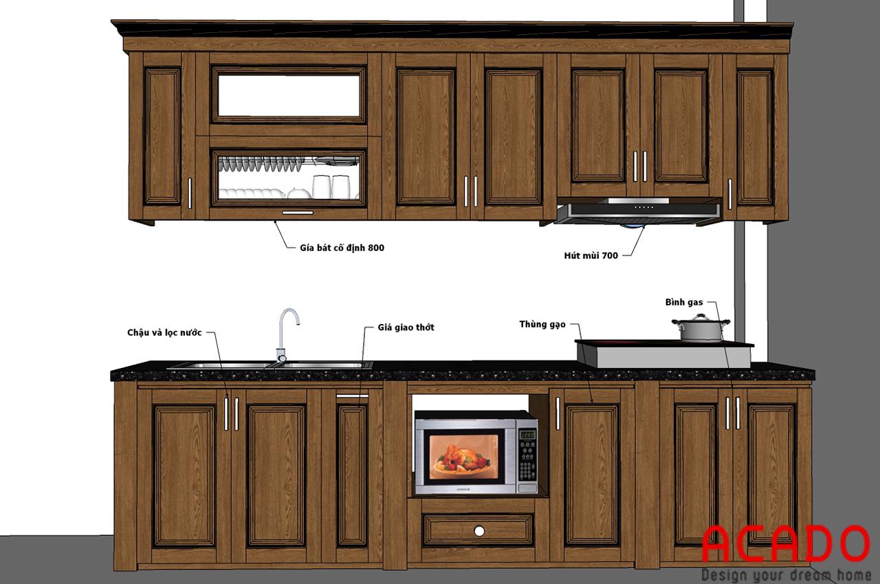 Sau khi trao đổi với gia đình, ACADO đã lên thiết kế phù hợp cho căn bếp