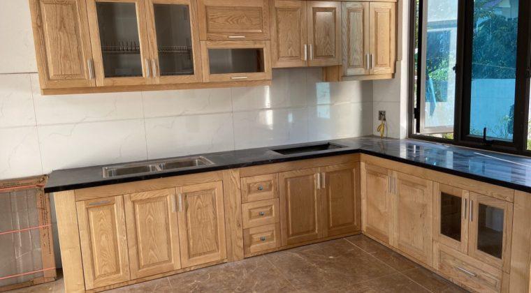 Tủ bếp của gia đình anh Hiển đã hoàn thiện - nội thất ACADO làm tủ bếp tại Trúc Sơn