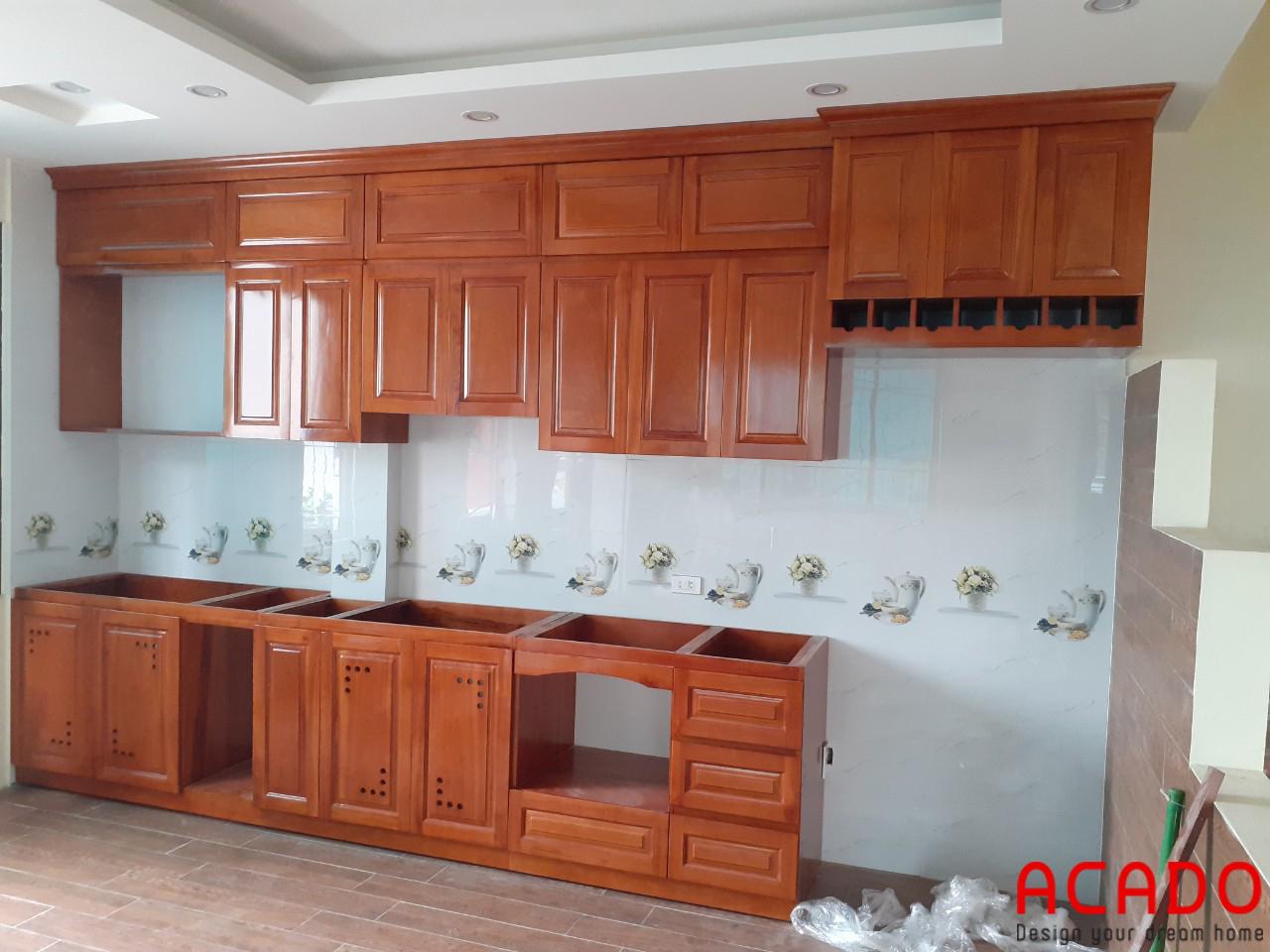Lắp đặt tủ bếp tại Thanh Trì - Hà Nội, ACADO thiết kế và thi công