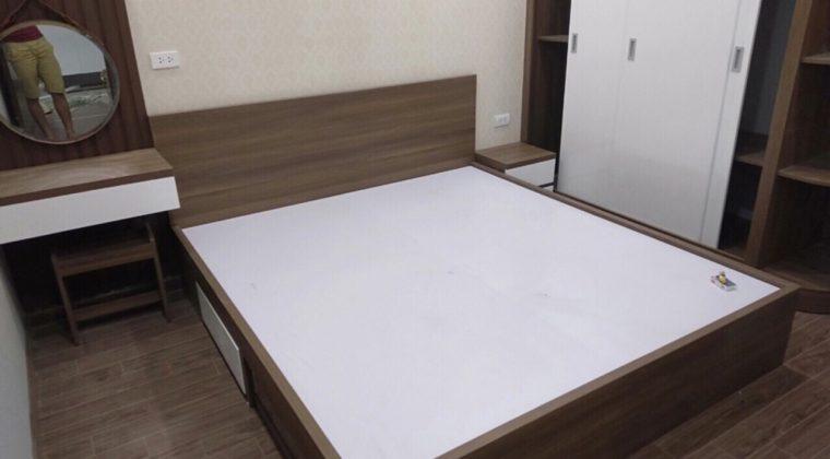 Giường ngủ gỗ công nghiệp thiết kế đơn giản, hiện đại