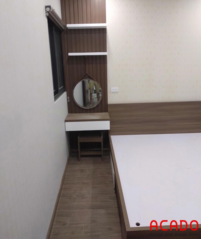 Thi công nội thất tại Quang Trung - thi công bàn trang điển