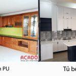 Tủ bếp sơn PU và sơn bệt - nội thất ACADO