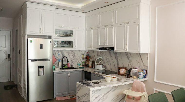 Không gian bếp với màu trắng làm chủ đạo - tủ bếp sơn bệt đẹp