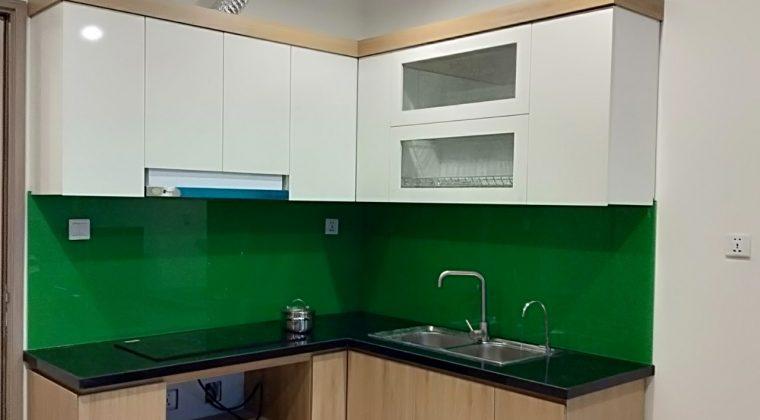 Bộ tủ bếp đã hoàn thiện để chuẩn bị bàn giao cho gia chủ
