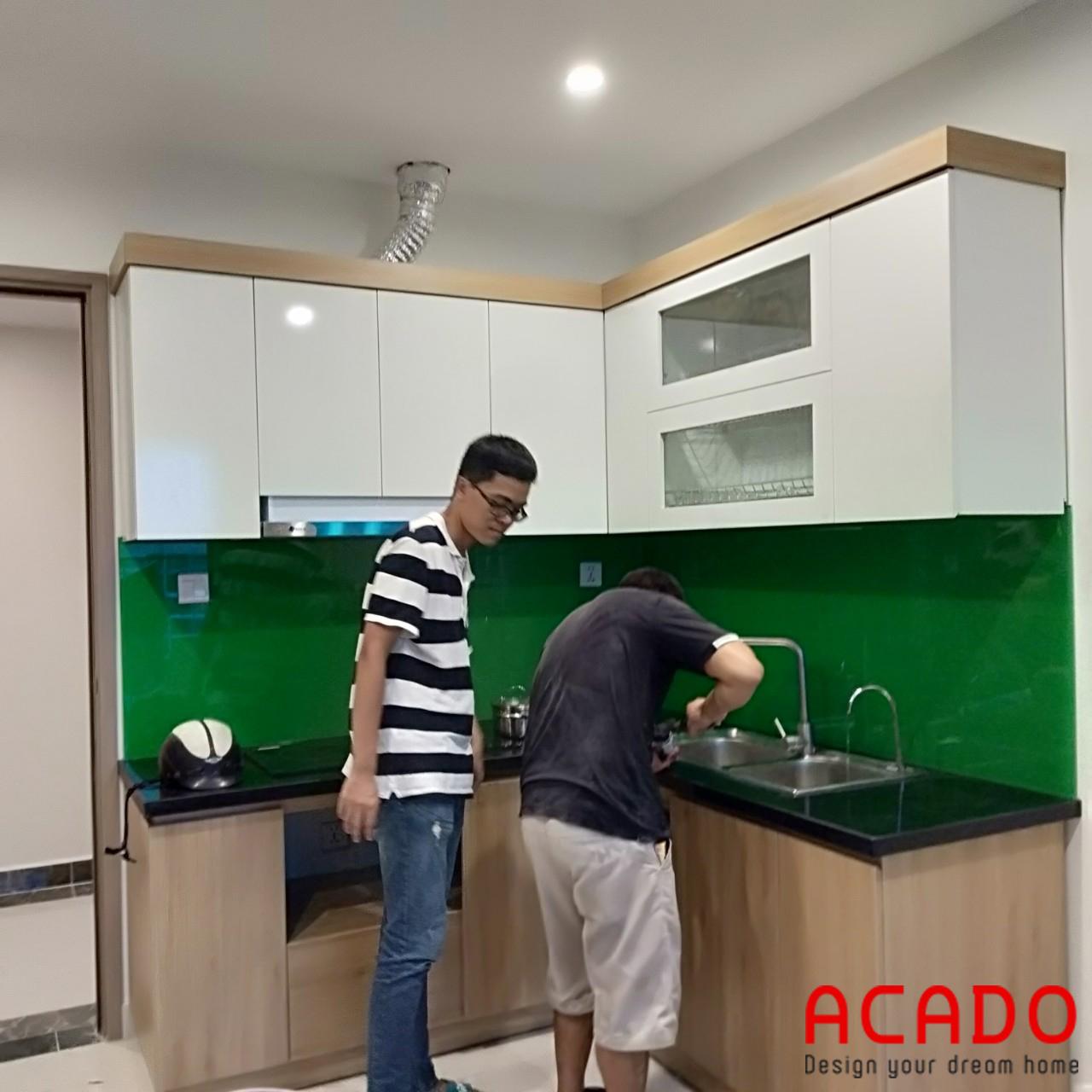 Làm tủ bếp tại Tây Mỗ , Hà Nội, gia đình anh Hùng