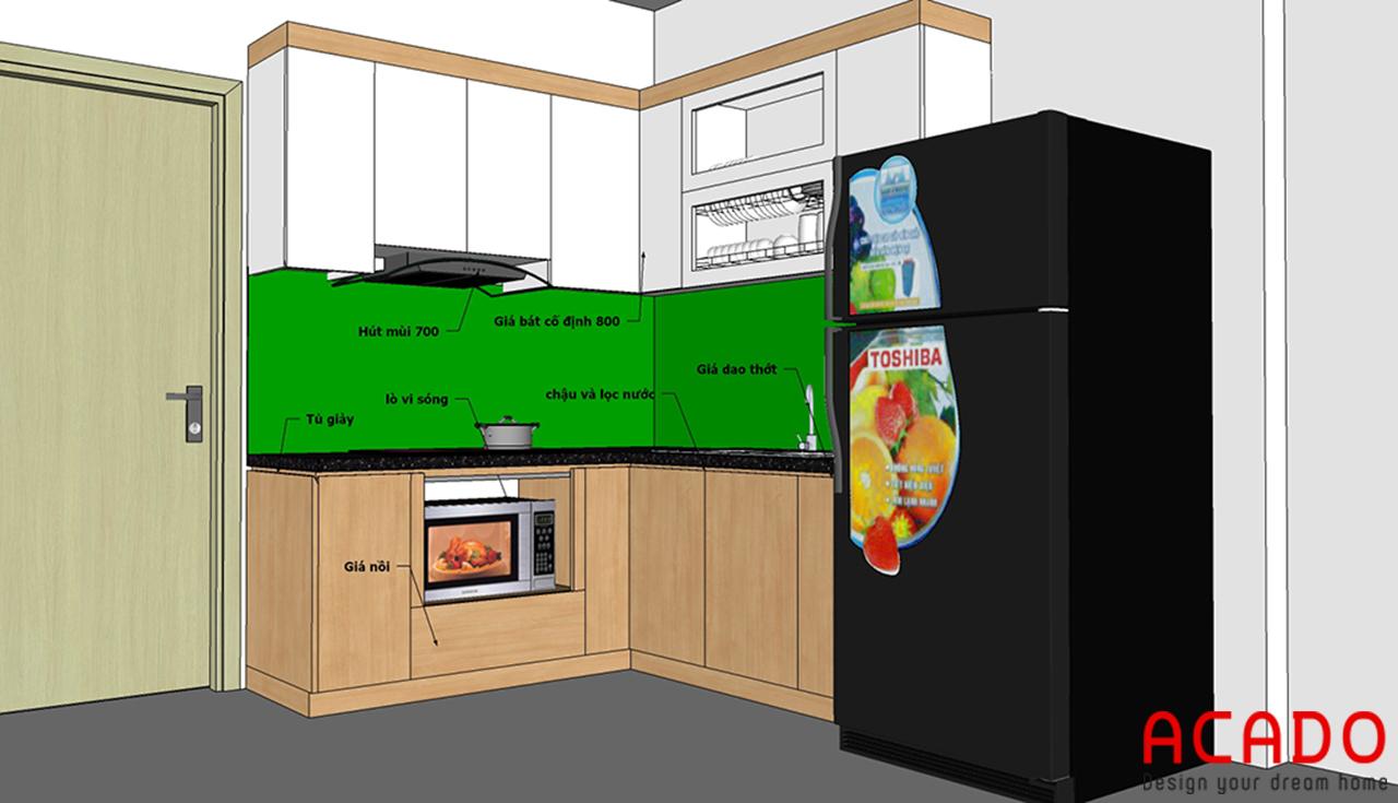Sau khi trao đổi với gia đình, ACADO đã lên thiết kế bếp phù hợp nhất cho căn bếp