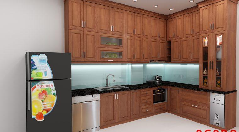 Bản thiết kế tủ bếp cho gia đình cô Bích tại KĐT Xala - Hà Đông