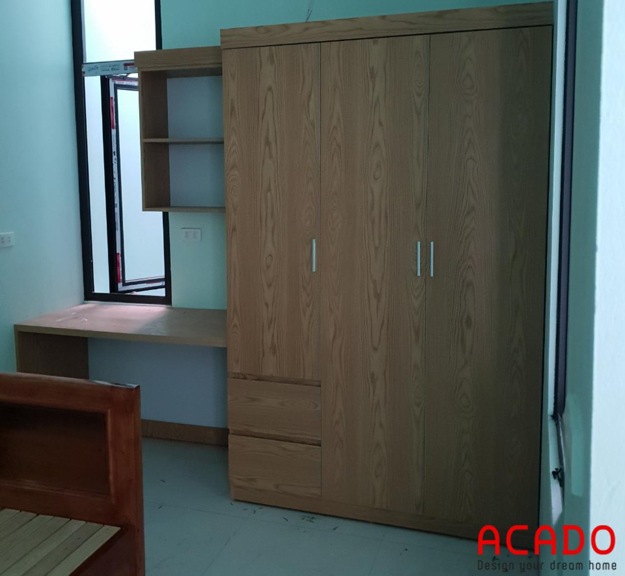 Thêm 1 chiếc tủ quàn áo cho phòng con chị Dung - thi công nội thất tại kiến hưng