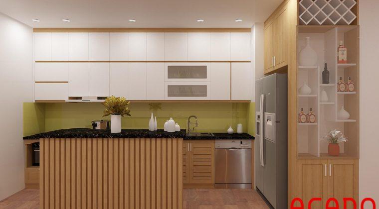 Sau khi trao đổi với gia đình, ACADO đã lên thiết kế phù hợp nhất cho căn bếp