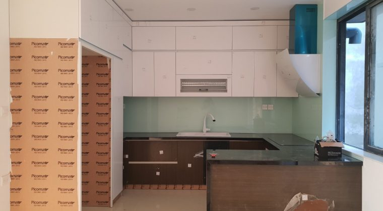 Hoàn thiện tủ bếp và bàn giao cho chị hằng - nội thất ACADO