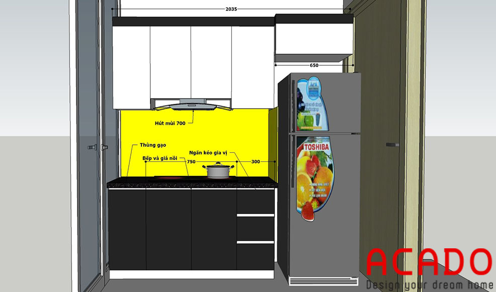Bản thiết kế được ACADO hoàn thành sau khi bàn bạc với chủ nhà