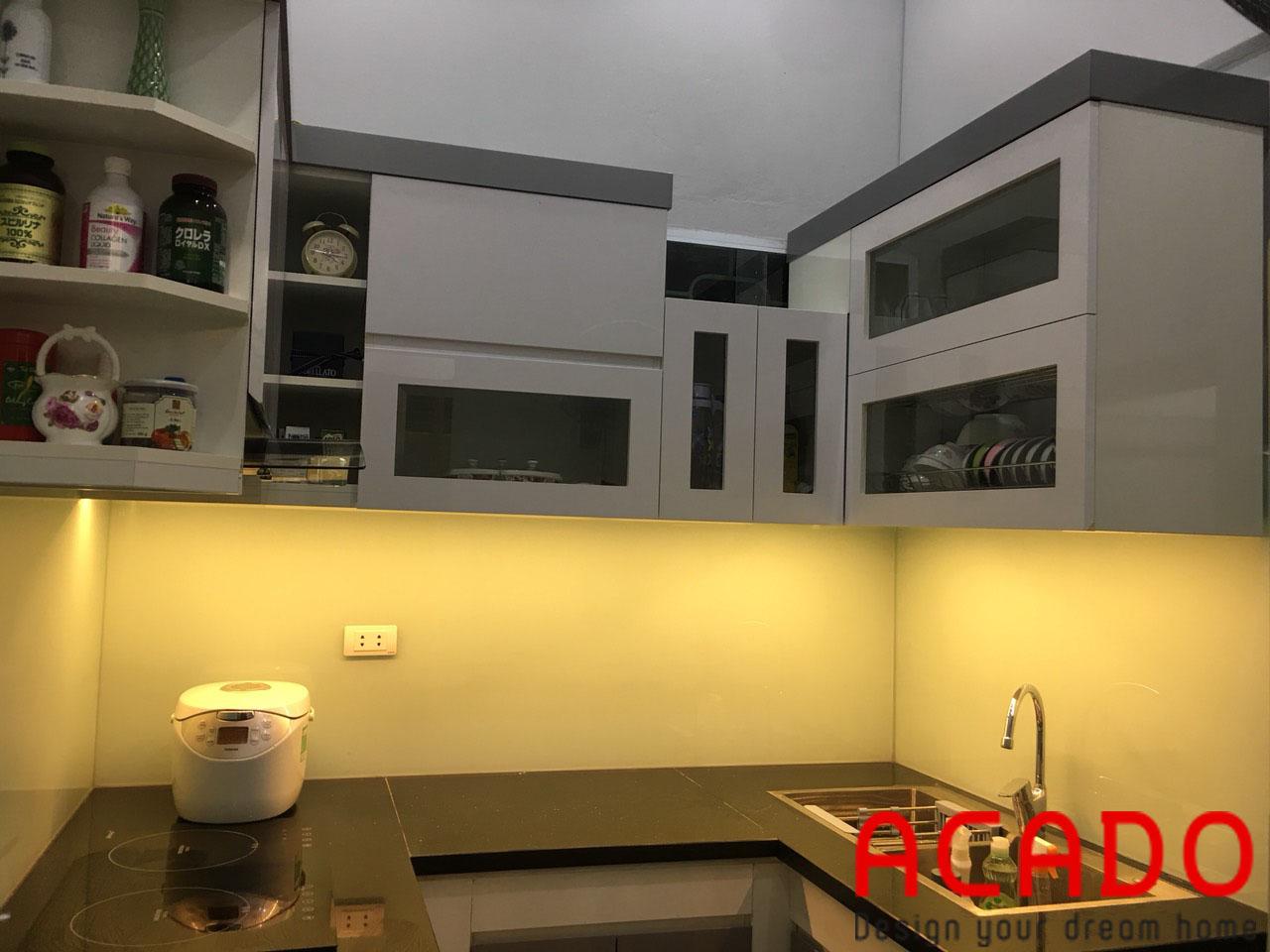 Công trình tủ bếp hoàn thành và bàn giao cho gia đình chị Trang-Nội thất ACADO