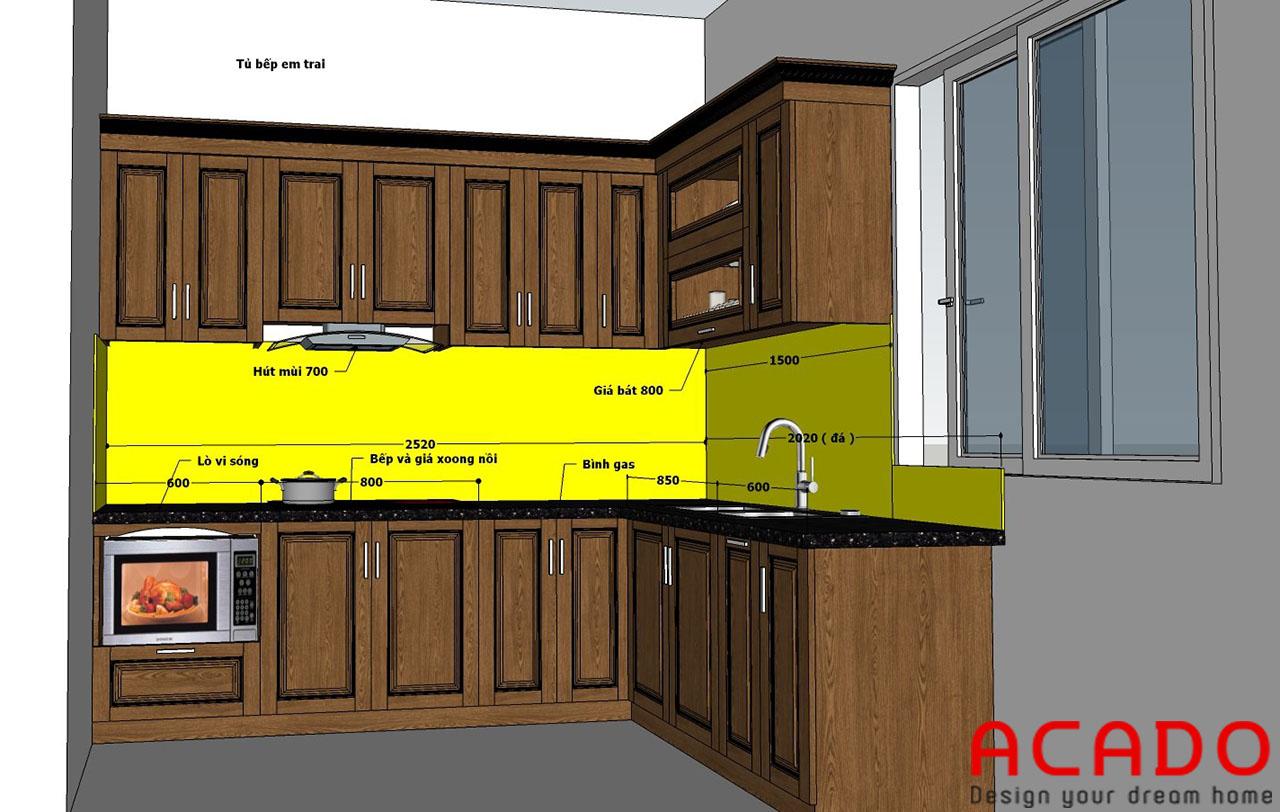 Sau khi thống nhất với gia đình chủ nhà, nội thất ACADO đã nhanh chóng hoàn thành bản thiết kế