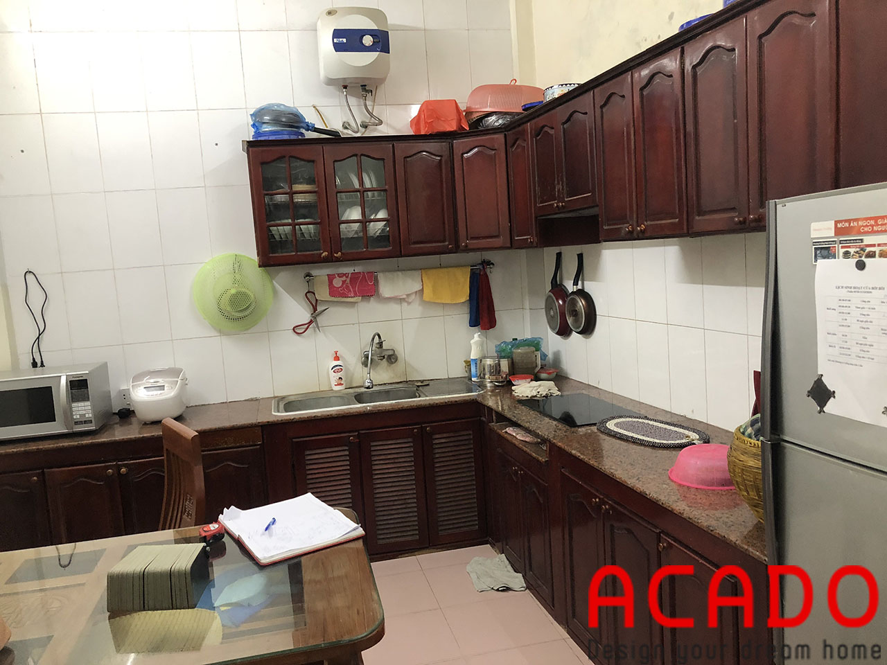 Hiện trang căn bếp nhà chú Thịnh khi nhân viên ACADO qua khảo sát thực tế