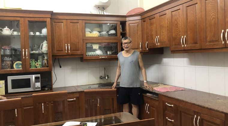 Hoàn thành công trình ắp dặt tủ bếp Thanh Trì và bàn giao cho gia đình chú Thịnh