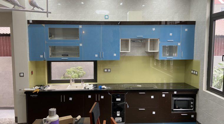Hình ảnh bộ tủ bếp đã hoàn thiện để bàn giao cho gđ anh Nam