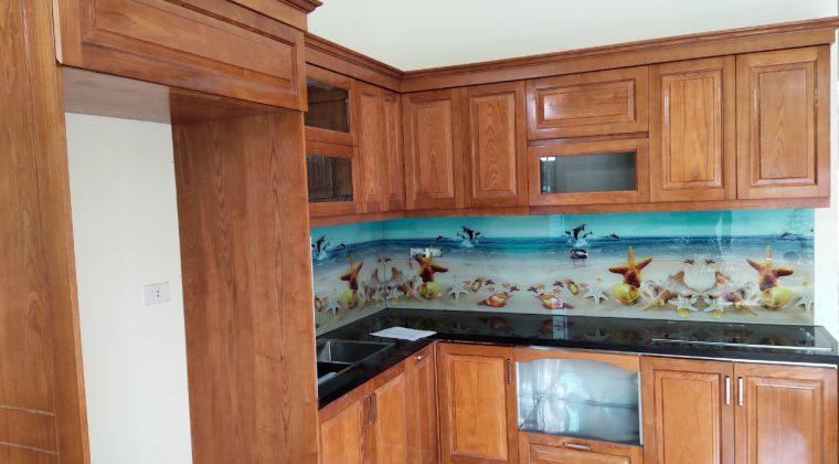 Hình ảnh bộ tủ bếp đã hoàn thiện để bàn giao cho gđ chú Chức - Nội thất ACADO