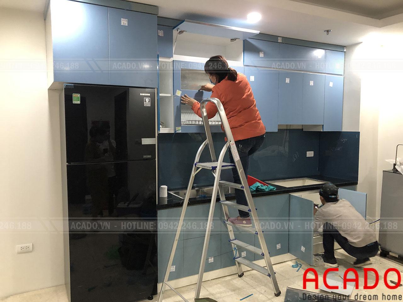 Tủ bếp thiết kế chữ I phù hợp với mọi không gian căn bếp, đặc biệt đối với những căn bếp nhỏ hoặc bếp chung cư