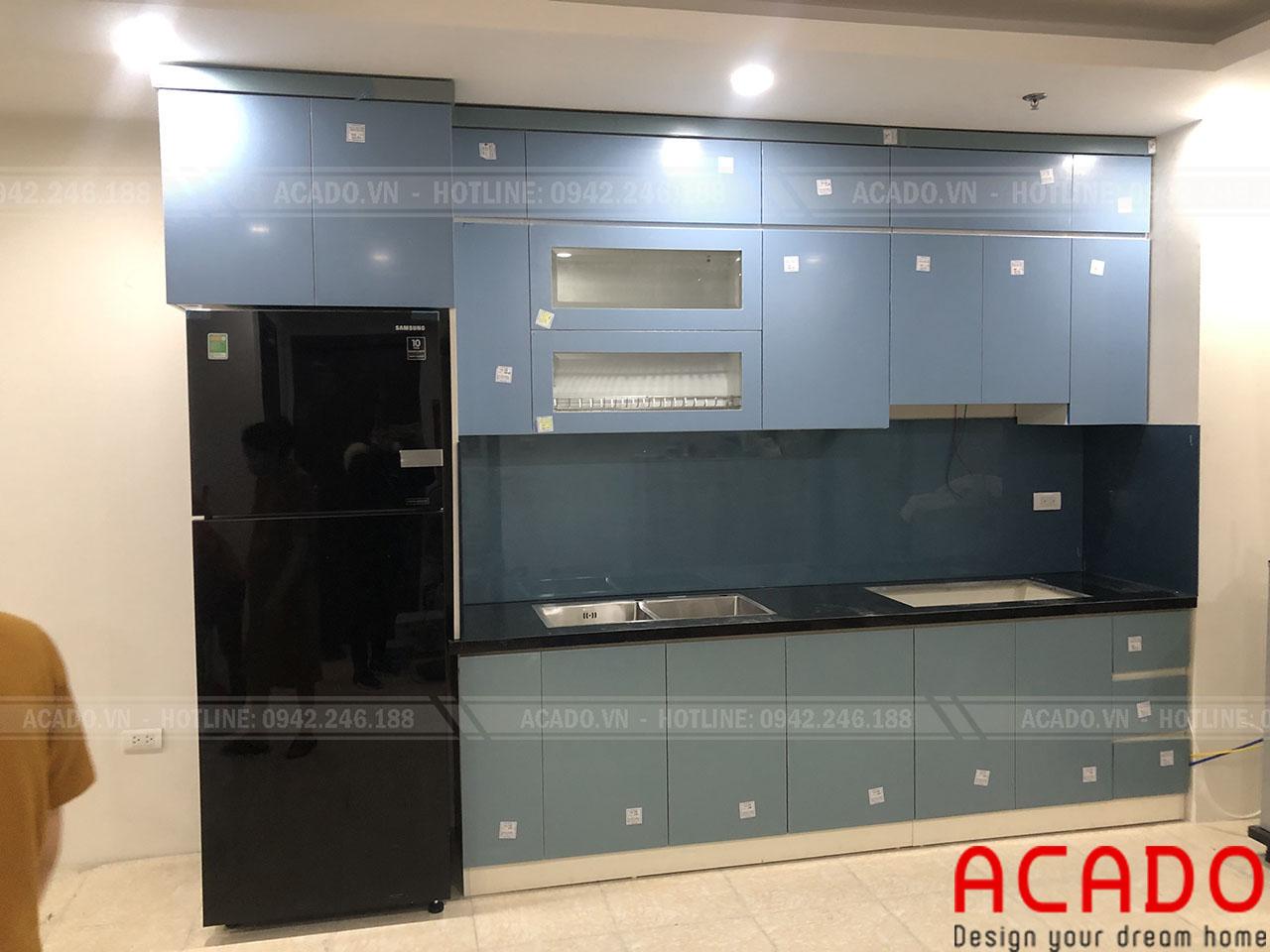 Hoàn thành công trinh lắp đặt tủ bếp cho gia đình anh Kiệm tại Mỹ Đình