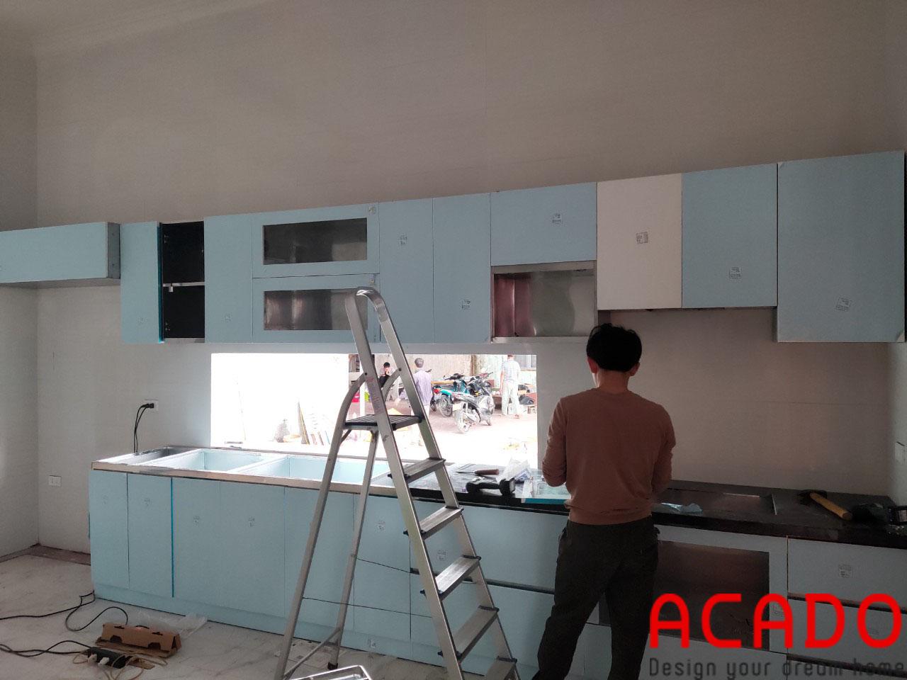 Đội ngũ thi công dày dặn kinh nghiệm mang tới khách hàng những sản phẩm tuyệt vời - Thi công tủ bếp tại Bắc Giang