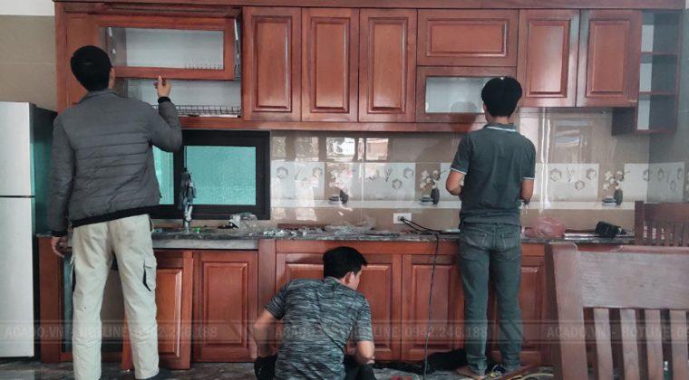 Hoàn Thanh công trình lắp đặt tủ bếp gia đình nhà anh Đông - Nội Thất ACADO
