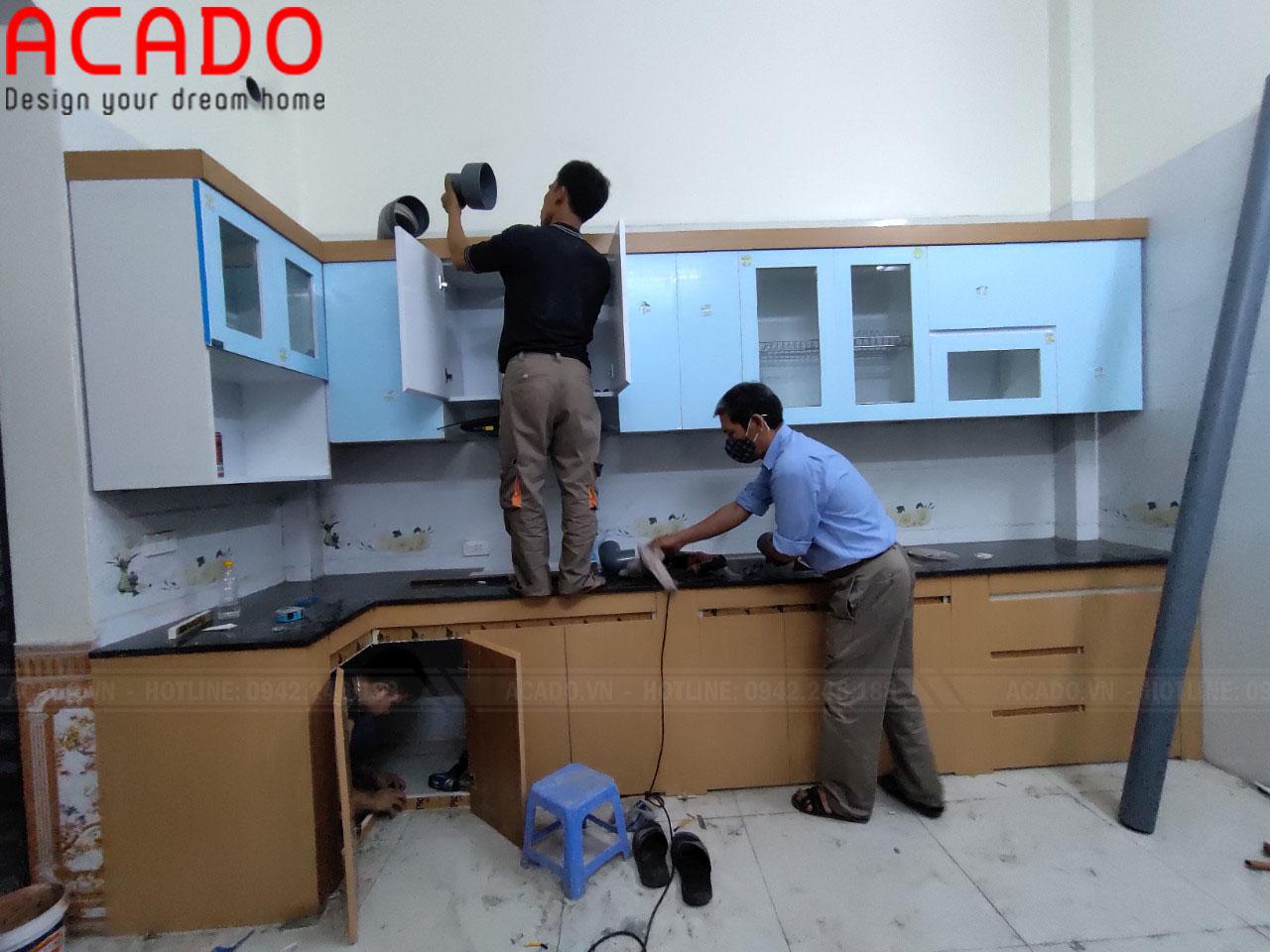 Tủ bếp sử dụng thùng Picomat chống ẩm tuyệt đối đảm bảo độ bền cho sản phẩm