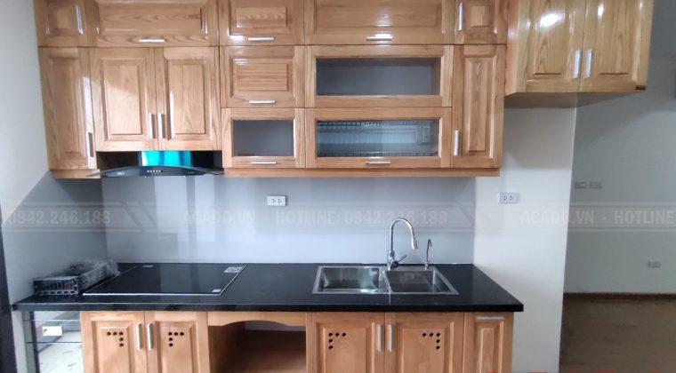 Hoàn thành công trình thi công tủ bếp Hoàng Mai cho gia đình anh Hoàng - Nội thất ACADO