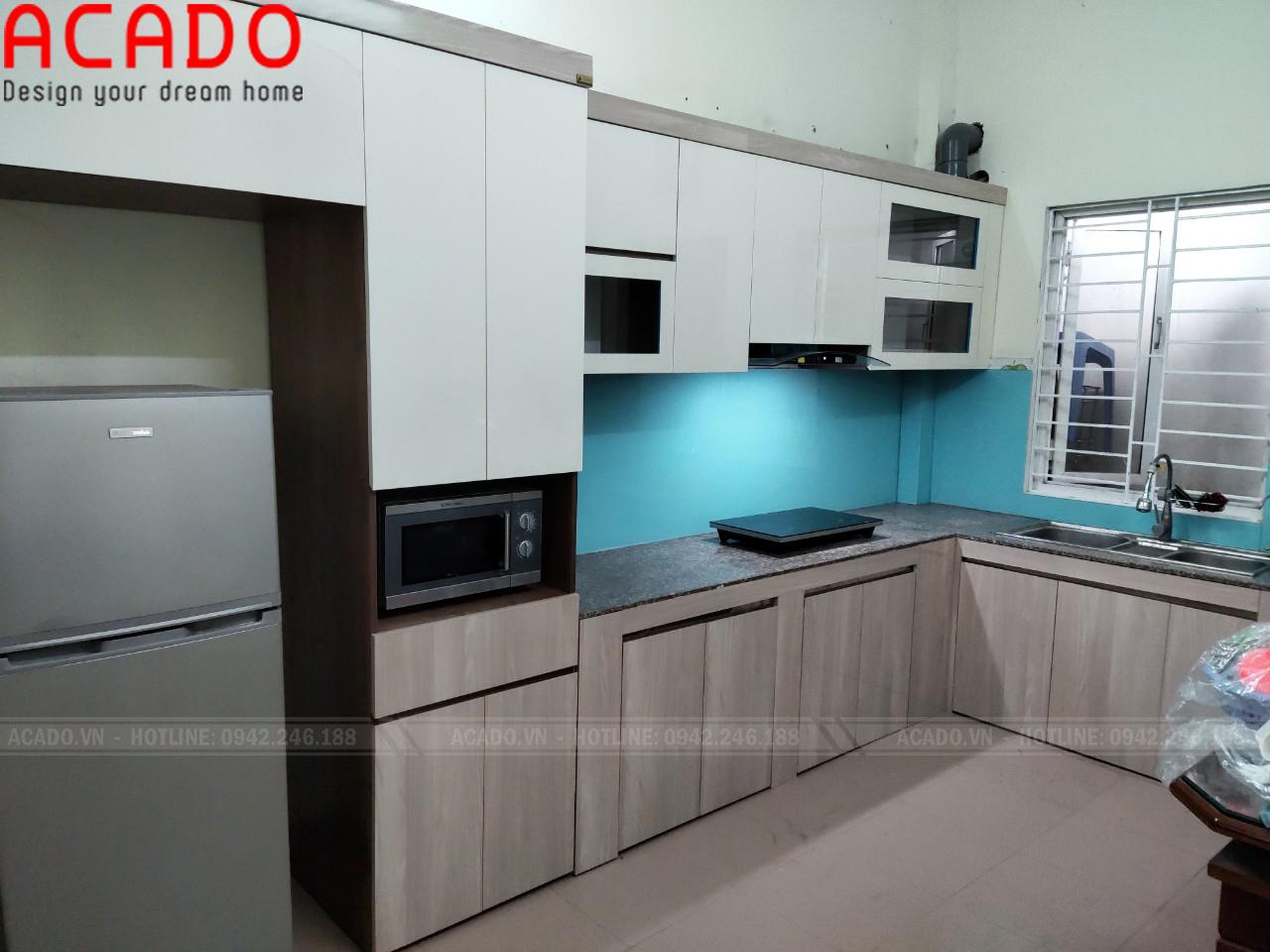 Hoàn thiện công trình tủ bếp tại Long Biên và bàn giao công trình lại cho gia đình chị Lan