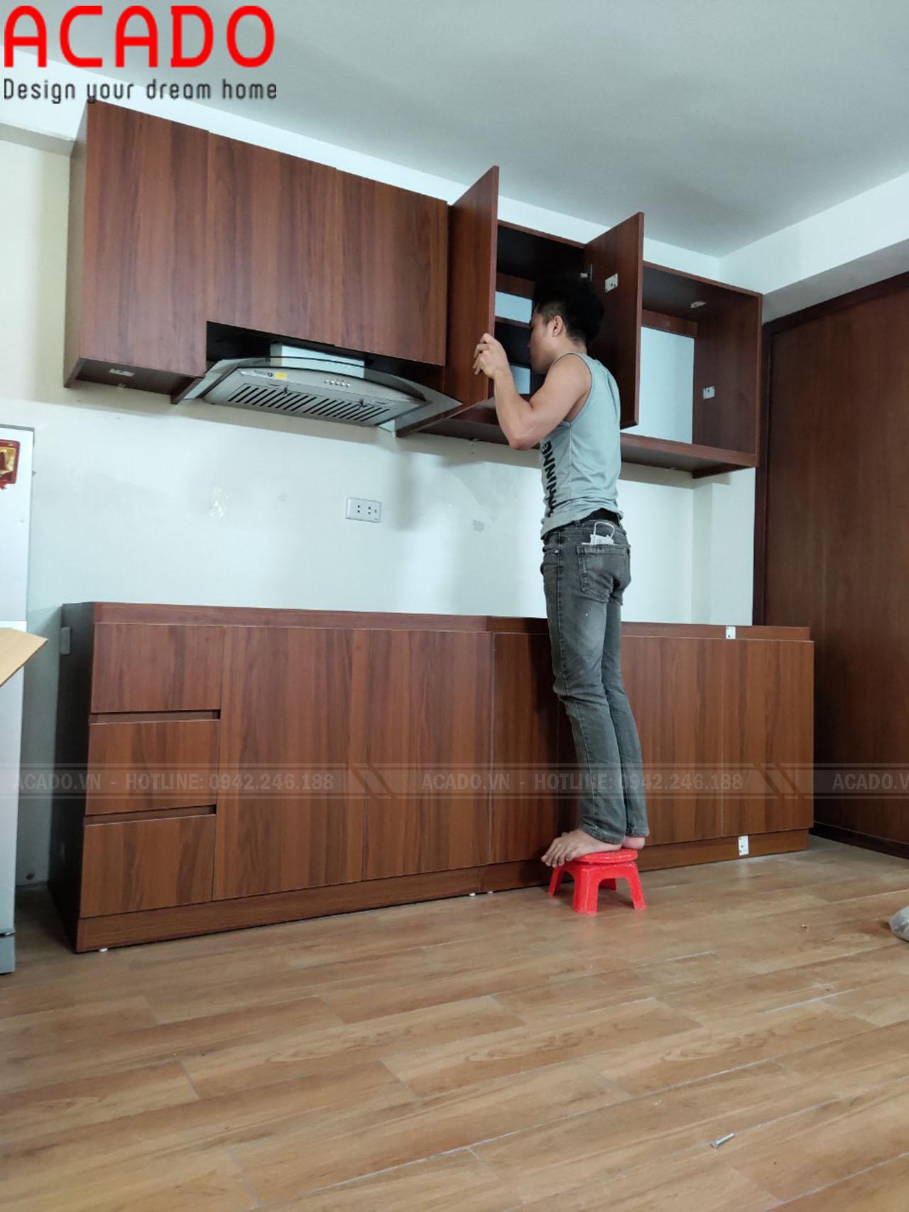 Tủ bếp thiết kế chữ I phù hợp với không gian mọi căn bếp - Nội thất ACADO