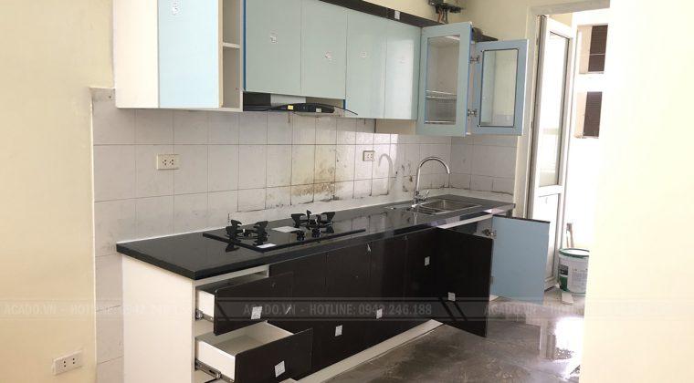 Hoàn thành quá trình thi công tủ bếp cho gia đình chị Thúy tại Nguyễn Chánh
