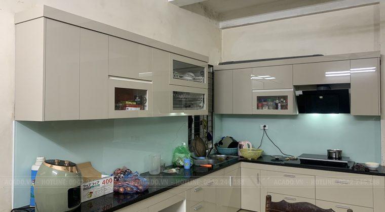 Hoàn thành quá trình thi công và bàn giao tủ bếp tại gia đình anh Thám