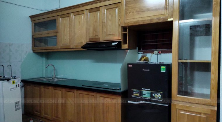Hoàn thành công trình tủ bếp, bàn giao lại cho gia đình chị Hà - Nội thất ACADO