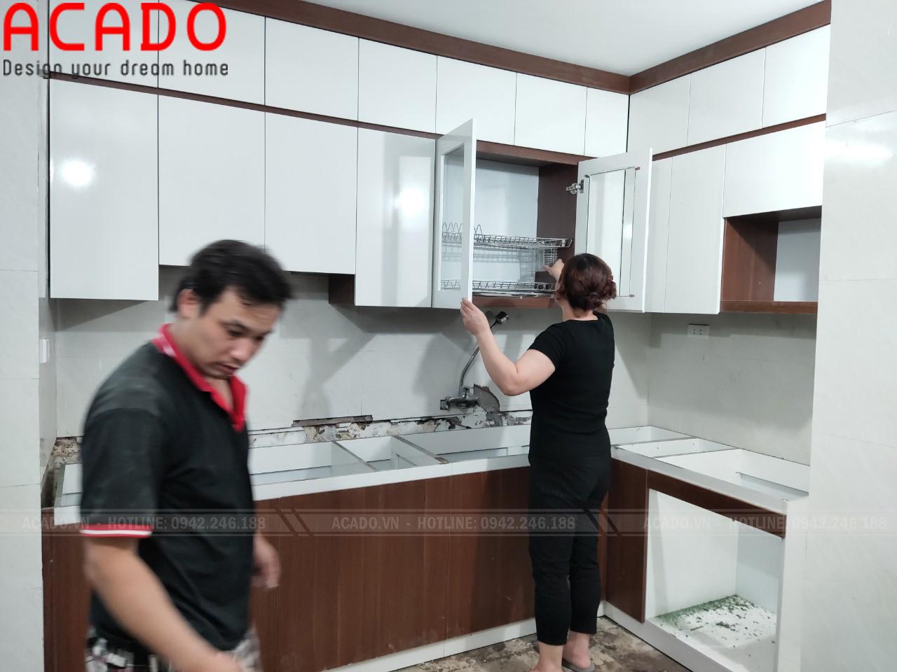 Tủ bếp Melamine có khả năng chống ẩm tuyệt đối, tăng độ bền