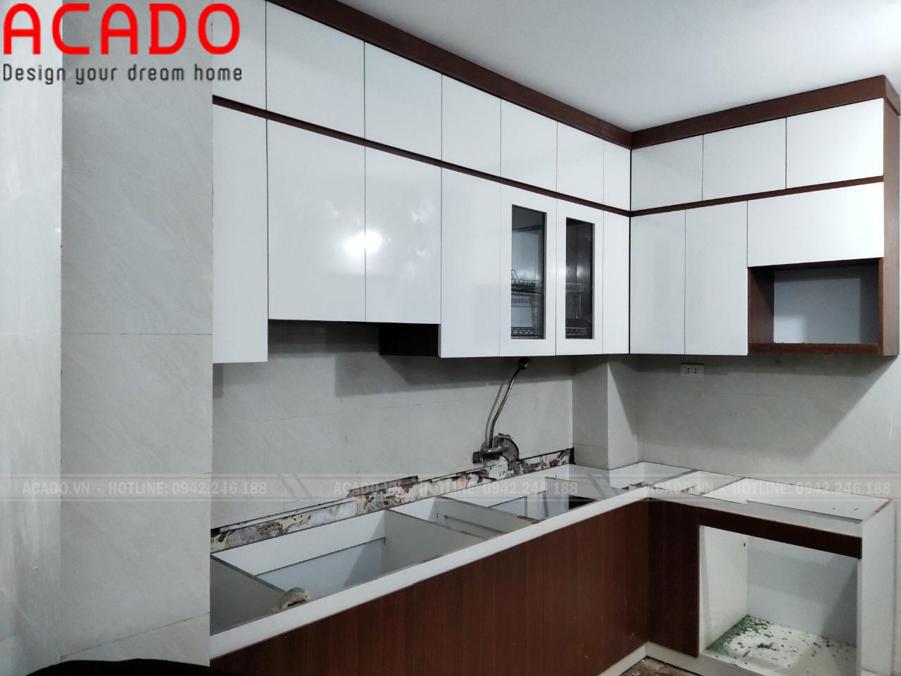 Tủ bếp thiết kế chữ L, tận dụng tối đa không gian bếp