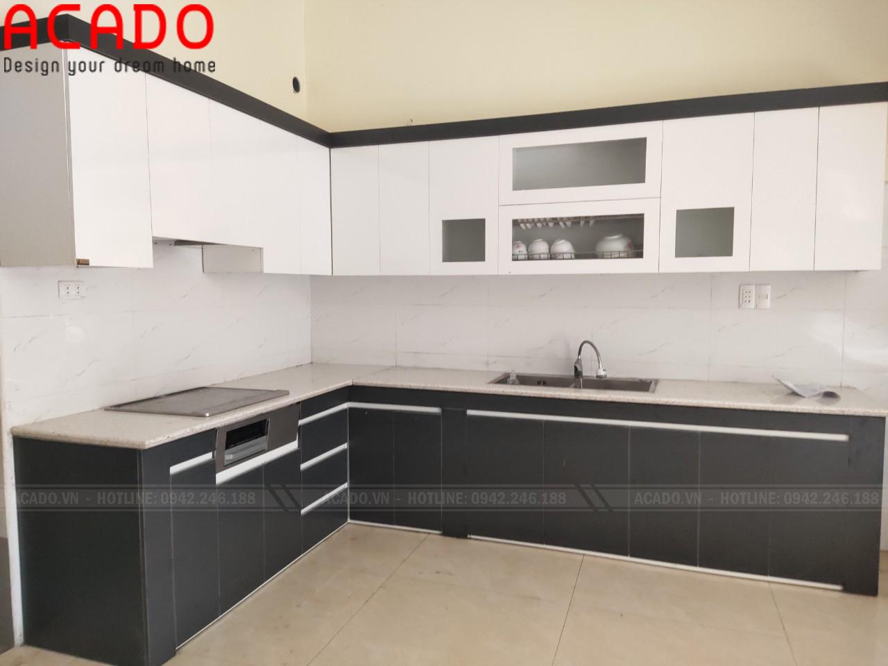 Tủ bếp thiết kế hiện đại, sang trọng không bao giờ lỗi mốt - Nội thất ACADO