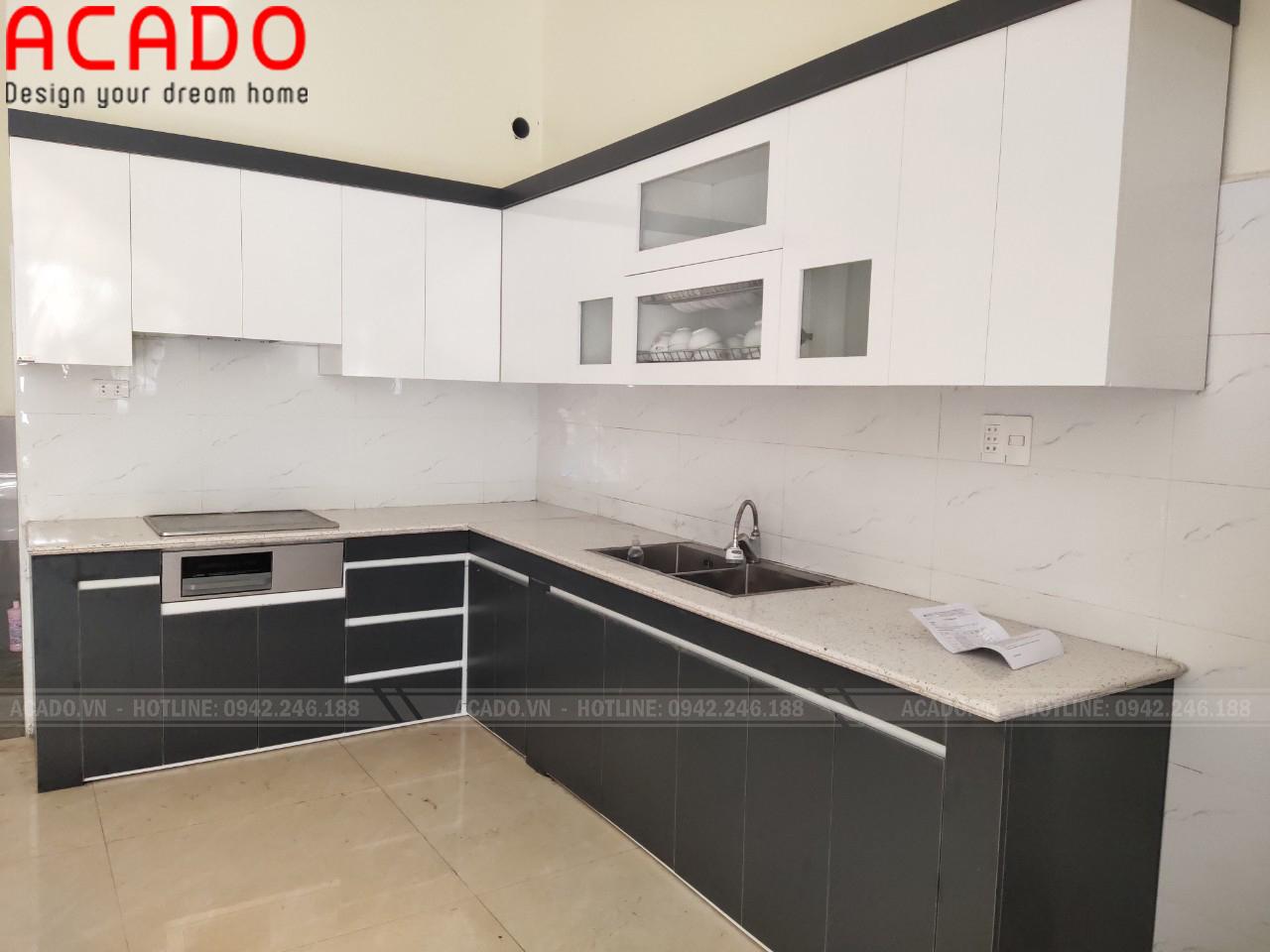Nội thất ACADO địa chỉ đóng tủ bếp gỗ công nghiệp Melamine uy tín tại Hà Nội