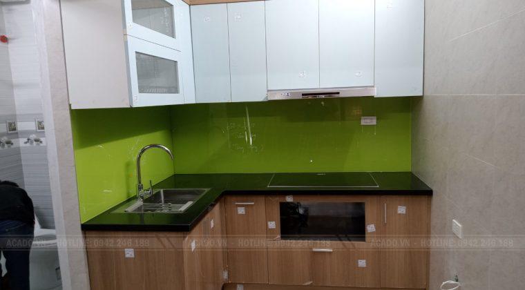 Hoàn thành quá trình thi công tủ bếp tại Long Biên và bàn giao công trình cho gia đình chị Phương