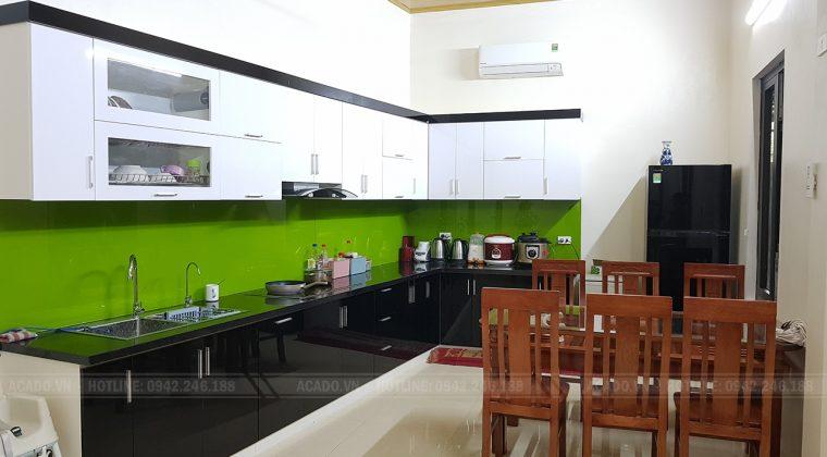 Hoàn thiện quá trình lắp đặt tủ bếp tại Thanh Oai và bàn giao công trinh cho gia đình anh Quân