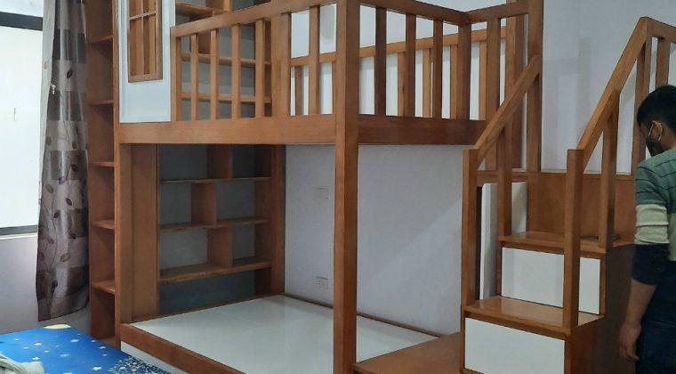 Mẫu giường tầng tiện lợi chất liệu gỗ công nghiệp - Nội thất ACADO