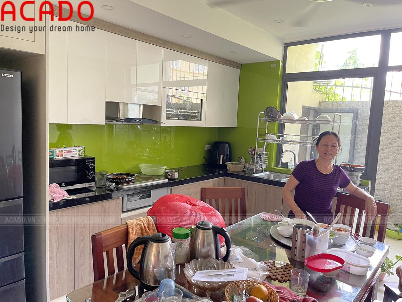 Hoàn thành công trình tủ bếp cho gia đình chị Hoài - Nội thất ACADO