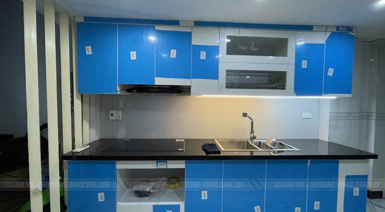 Thùng tủ Melamine chống ẩm vượt trội - Thi công tủ bếp tại Nguyễn Trãi