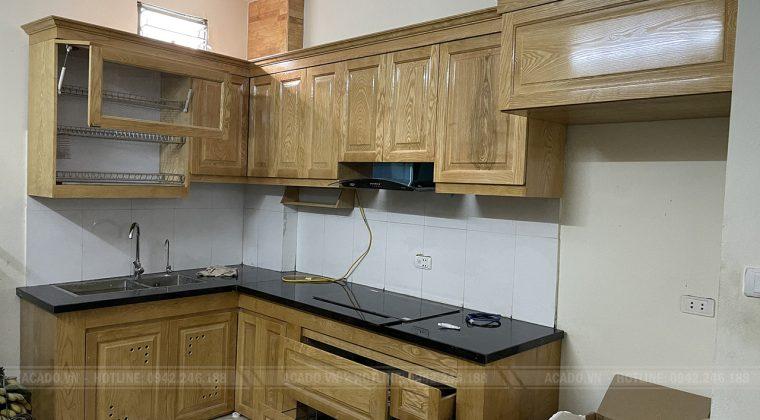Hoan thiện quá trình thi công tủ bếp cho gia đình anh Thắng