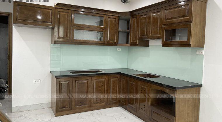 Hoàn thành quá trình thi công và bàn giao công trình tủ bếp cho gia đình anh Vinh