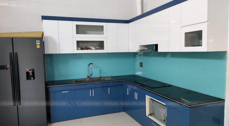 Hoàn thành quá trình thi công tủ bếp tại Ba Vì và bàn giao công trình lại cho gia đình chị Ngân