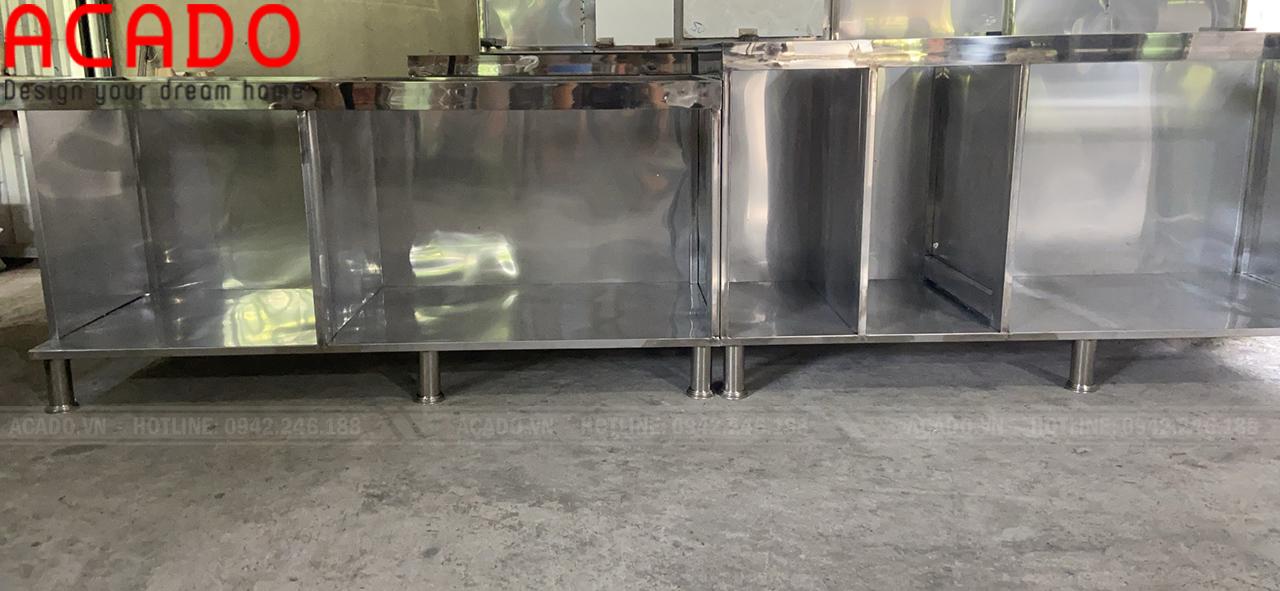 Thi công thùng tủ Inox tại xưởng sản xuất inox - Nội thất ACADO